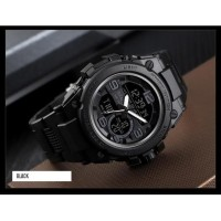 Jam Tangan Pria Digital Analog SKMEI 1452 BLACK Water Resistant 50m