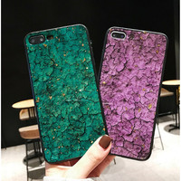 Oppo F9 F 9 2019 Luxury 3D Glass jelly crackle Marble casing hp Slim - Merah