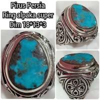 cincin batu akik permata pirus Persia 023