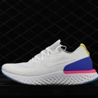 sepatu nike lunar epic react flayknit 2 white blue pink premium BNIB