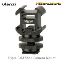 Ulanzi Triple Cold Shoe Mount Camera Converter Mic LED Adapter