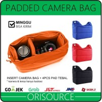 Insert Camera Bag Partition Padded | Tas Kamera SLR DSLR Mirrorless