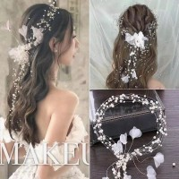 Bride Wedding Hair Accessories AR035 / Headpiece / Aksesoris crystal