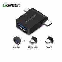 OTG 2 in 1 Adapter UGREEN Micro USB + USB C male to USB 3.0 female