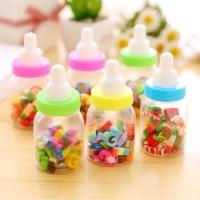 Penghapus Mini Dalam Kemasan Botol Susu Aneka Motif (Isi 20)