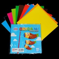 Kertas Origami / Lipat Polos Sidu Uk. 16 x 16 Isi 100 Lb