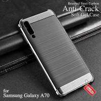 Anti Crack Soft Case Samsung A70 Softcase Silicon Silikon Casing Cover