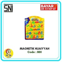 Mainan Edukasi Anak/Tempelan Magnet/Letters&Number/Magnetik Hijaiyah