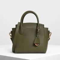 SAG6116 GReeN Chalres & Keith Classic Top Handle Hand Bag