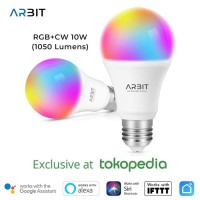 Smart Home - ARBIT - Smart Wifi 10W RGB+CW LED Bulb Works Alexa Google