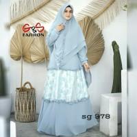 Gamis Set/Gamis& Khimar Set/Baju muslim wanita stelan