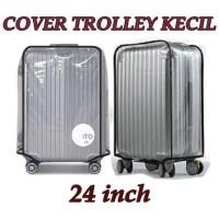 HOT SALE Cover Trolley Mika 24 Inch Kecil Sarung Plastik Tebal Penutup