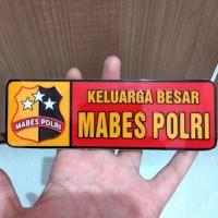 HOT SALE Sticker Keluarga Besar Mabes Polri + Bahan Plastik Mika +