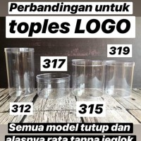 HOT SALE Toples Nastar Kue Kering Plastik Mika Tabung Tinggi - merk