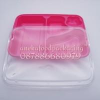 HOT SALE Mika/kotak/wadah makan bento plastik + tutup pink terjamin