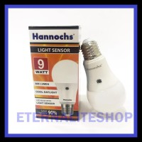 Light Sensor LED Bulb / Hannochs Lampu Sensor Cahaya 9W OBRAL