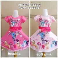 BAKUKIDDIE QUEEN LITTLE PONY DRESS anak perempuan pesta kuda poni lol - Size 100, Queen Fuschia