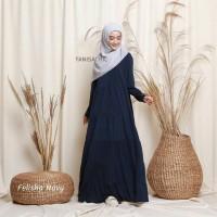 Felisha Dress Navy | Gamis Jersey | Gamis Polos