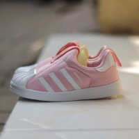 Sepatu anak adidas superstar 360 slip on original (pink)