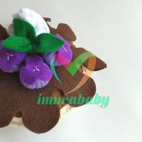 Mainan flanel - food flanel dessert