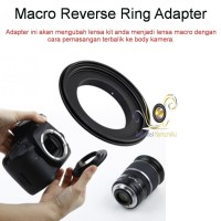 Macro Reverse Ring for Canon 62mm