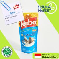 Rebo Kuaci Biji Bunga Matahari Rasa Milk Flavor 70g / Hana Market