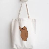 totebag we bare bears tas belanja lipat tas blacu dan kanvas serbaguna