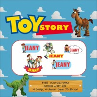 STICKER NAMA TOY STORY / STIKER LABEL / STIKER KARAKTER