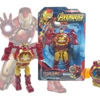 Jam Tangan Watch Anak Robot Besar Ironman Avengers