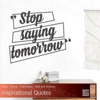 Sticker Dinding Motivasi quotes Stiker Cutting Kantor Toko Kafe Shop