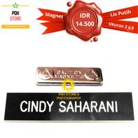 Papan nama grafir PDH 2 x 8 cm Magnet - IDR : 14.5K/pcs