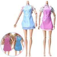 Saha 3Pcs/Set Mainan Baju Rok Apron Boneka Barbie U Anak Perempuan