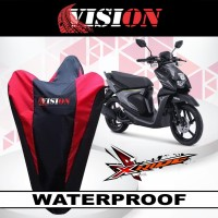 sarung motor anti air Yamaha X-Ride cover body waterproof selimut debu - Merah