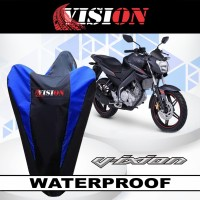 sarung motor anti air Yamaha Vixion cover body waterproof selimut debu - Biru