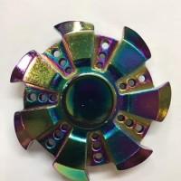HAND SPINER FIDGET spinner metal alumunium MATAHARI RAINBOW Trend Toy