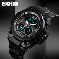 Jam Tangan Pria Sport Dual Time SKMEI 1452 Original Anti Air 50M Hitam