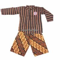 SETELAN BAJU Surjan / Lurik Anak + Celana Batik ( Size L, XL, XXL )