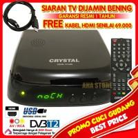 Crystal Set Top Box Decoder Receiver Perekam Siaran TV CDVB-T2 650