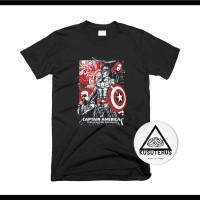 kaos/sablon/custom/superhero/captain america