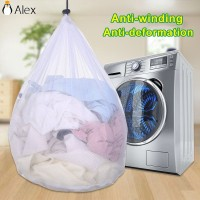 Drawstring Thicken Fine Lines Laundry Bag Bra Protective Bags ALID