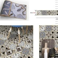 Sticker Lantai/Wallpaper Flooring motif Tegel 002