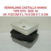Keranjang Hawai M 5791/Castalla/ Baki/Nampan/Basket/Wadah Parcel