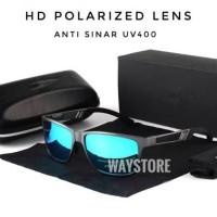 kacamata sunglass original polarized pria wanita - Black Black
