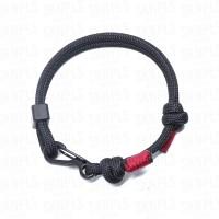 Black Carabiner Paracord Bracelet / Gelang Lilit - High Quality - #04