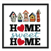 DIY Cross Stitch | Sweet Home | Kristik Strimin Sulam | Craft Dekorasi