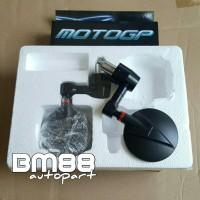 Spion Jalu Model Bulat MOTOGP - Motif Carbon Bar end Mirror CNC Besi