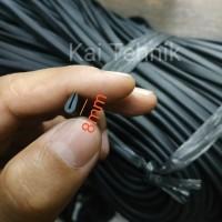 Karet Lis Polos 8 mm untuk panel, kaca atau helm