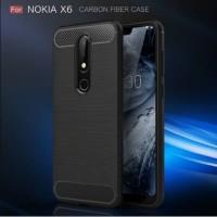 Case Ipaky Carbon Fiber Nokia 61 Plus X6 Softcase Shockproof TP
