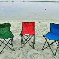 Kursi Lipat Outdoor Dengan Sandaran Belakang