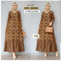 Gamis Batik Sogan Modern- Atasan Batik Wanita-Batik Gamis Muslim
